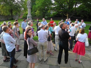 David Stocker leads delegates to St Wulfram's, Grantham