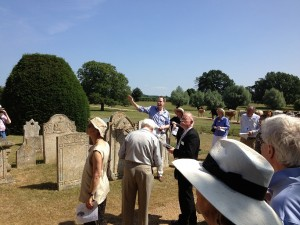 Rob Kinsey leads delegates to Marholm Church