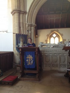 Caroline Barron speaking at Marholm