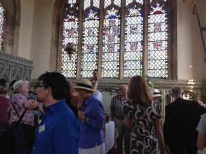 Delegates at Marholm Church