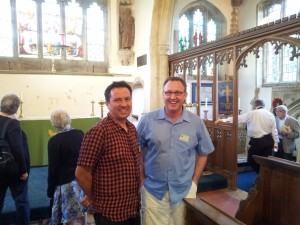 Matthew Payne and Christian Steer in Harlaxton Church