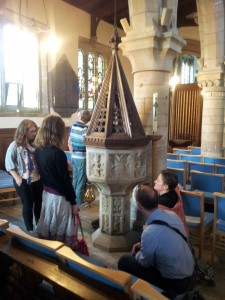 Delegates in Harlaxton Church