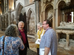 Clive, Anne Sutton and Christian at Bishop Fleming's Tomb