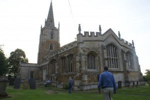 Delegates arrive at Harlaxton Church for Compline